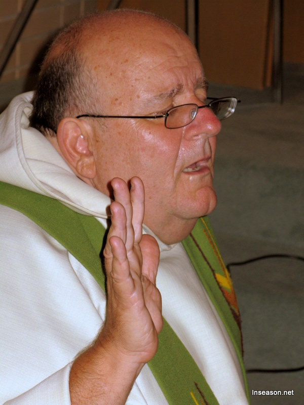 Fr. Tom deep in prayer at the Espousal Center in Waltham, MA
